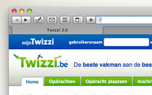 website TWIZZI, detail